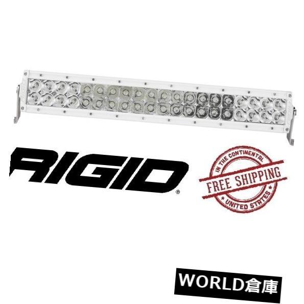 LEDライトバー Rigid Industries EシリーズPRO 20インチLEDライトバー - スポット/フラッド - ホワイトボディ Rigid Industries E-Series PRO 20