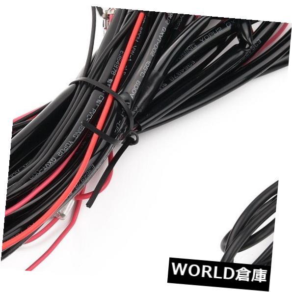 LEDライトバー 新しいLEDライトバーワイヤリングハーネスキット オフロード作業灯用ヒューズリレースイッチ New LED Light Bar Wiring Harness Kit & Fuse Relay Switch for Off-road work light