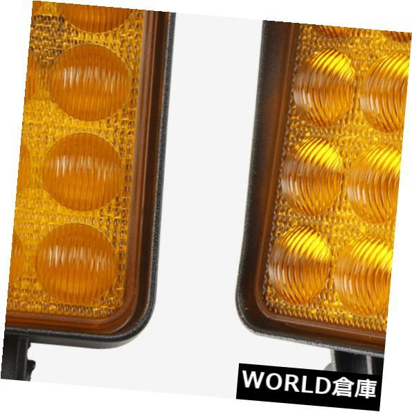 LEDライトバー 5D + 2X 48Wの正方形LEDの仕事のライトバーの洪水の運転/トラック4WDボートのオフロード琥珀色 5D+ 2X 48W Square LED Work Light Bar FLOOD Driving/Truck 4WD Boat Offroad Amber