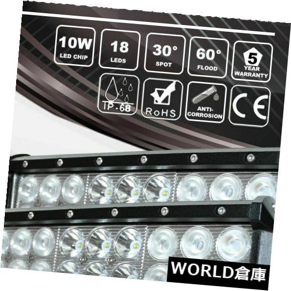 LEDライトバー 2x 9インチCREE LEDドライビングランプ作業用ライトバー360 WコンボビームトラックSUVオフロード 2x 9Inch CREE LED Driving Lamp Work Light Bars 360W Combo Beam Truck SUV Offroad