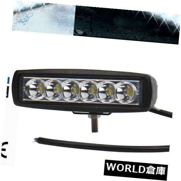 LEDライトバー 2x 6インチ18W LEDワークライトバースポットオフロードドライビングフォグATV SUV UTV 4WDマリン 2x 6Inch 18W LED Work Light Bar Spot Offroad Driving Fog ATV SUV UTV 4WD Marine