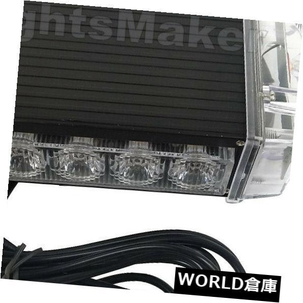 LEDライトバー 緊急ビーコンストロボ屋上ミニアンバー白色ライトバーを警告する14W LEDに付き7 7 in 14W LED Warning Emergency Beacon Strobe Rooftop Mini Amber White Light Bar