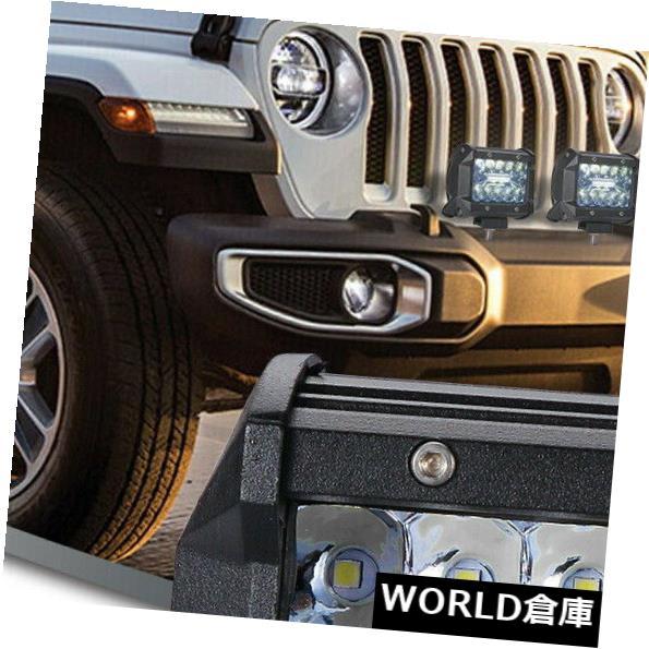LEDライトバー 2×4インチ200WクリーLEDワークライトバーフラッドスポットコンボオフロードドライビングランプ12V 2x 4inch 200W CREE LED Work Light Bar Flood Spot Combo Offroad Driving Lamp 12V