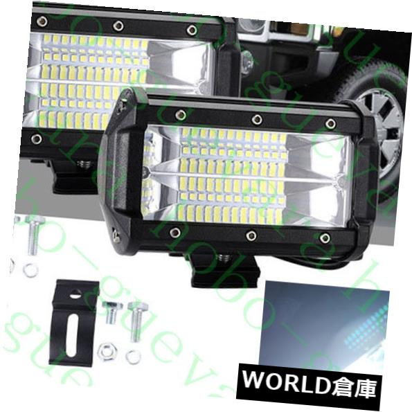 LEDライトバー 2Xホワイト24LED 72W作業ライトバーランプオフロードランプSUV車トラックATV 10V-48V 2X White 24LED 72W Work Light Bar Lamp Offroad Lamp SUV Car Truck ATV 10V-48V