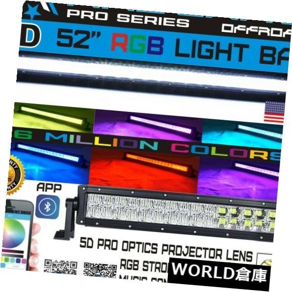 LEDライトバー No.1 5D 52インチ700W RGB LedライトバースポットフラッドオフロードジープUTV RZR 4WD SUV No.1 5D 52Inch 700W RGB Led Light Bar Spot Flood Offroad Jeep UTV RZR 4WD SUV