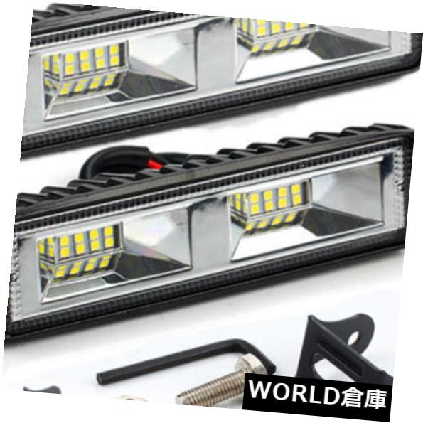 LEDライトバー 2ピース48ワット16 led作業光スポットビームバー車suvオフロードドライビングフォグランプランプ 2Pcs 48W 16 LED Work Light Spot Beam Bar Car SUV Off-Road Driving Fog Light Lamp