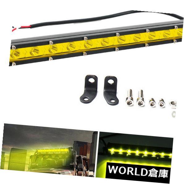 LEDライトバー 13インチイエロースリム36W LED単一行作業ライトバースポットオフロード駆動ランプ 13 inch Yellow Slim 36W LED Single Row Work Light Bar Spot OFFROAD DRIVING LAMP