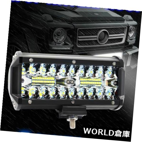 LEDライトバー 新しいLEDワークライトバー洪水スポット7インチ120W LEDライトバー防水丈夫 NEW LED Work Light Bar Flood Spot 7 inch 120W LED Light Bar Waterproof Durable