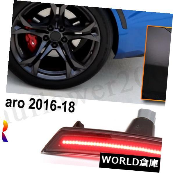 車用品 バイク用品 >> パーツ ライト 限定価格セール ランプ ウインカー サイドマーカー 2016-2018用シボレーカマロ4PCSフロント+リアスモークレンズLEDサイドマーカーライト For 2016-2018 ギフト Chevy + Smoked Rear Front Side Lens LED Marker Lights 4PCS Camaro