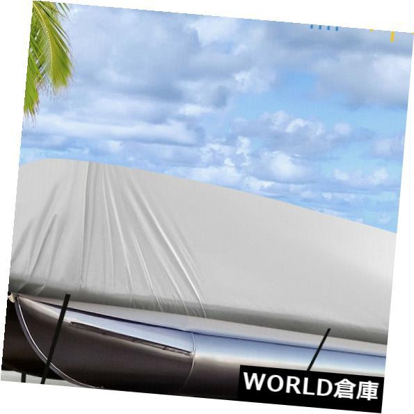 ボートカバー グレー21-24フィート300 D正方形ボートカバー防水Trailerable 740 x 400 cm Gray 21-24ft 300D Square Shape Boat Cover Waterproof Trailerable 740 x 400cm