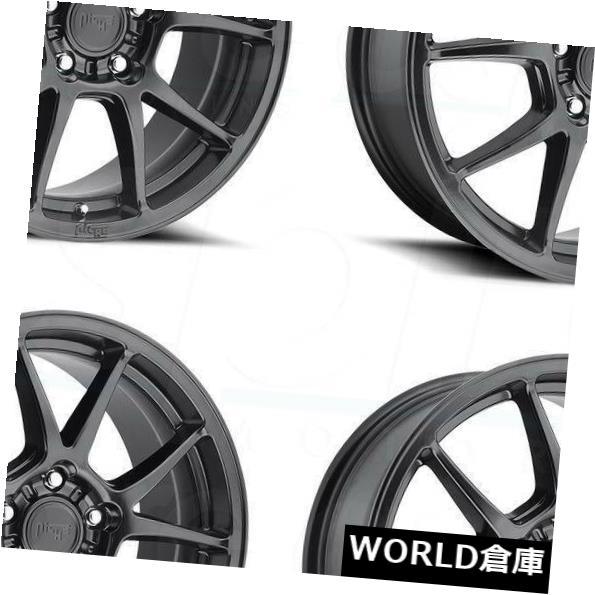 春夏新作モデル 海外輸入ホイール Rims 17x8ニッチメッシーナM174 5x112 40マットブラックホイールリムセット(4) 5x112 17x8 Niche Messina M174 Messina 5x112 40 Matte Black Wheels Rims Set(4), ガーデン太郎:6c05bddc --- kalpanafoundation.in