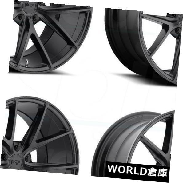 【一部予約販売】 海外輸入ホイール 17x8ニッチミサノM117 Rims 5x114.3 40マットブラックホイールリムセット(4) 17x8 Niche 5x114.3 Misano M117 5x114.3 17x8 40 Matte Black Wheels Rims Set(4), 物流機器専門店 スターラック:6727c1eb --- kalpanafoundation.in