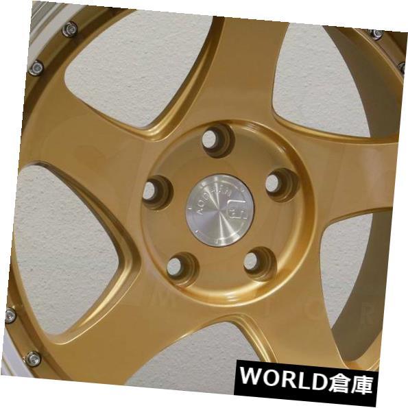【メール便不可】 海外輸入ホイール 18x9.5 AH01 Aodhan AH01 AH1 Gold 5x108 30ゴールドホイールリムセット(4) 30 18x9.5 Aodhan AH01 AH1 5x108 30 Gold Wheels Rims Set(4), 一ノ宮町:0427cdb0 --- svatebnidodavatel.cz