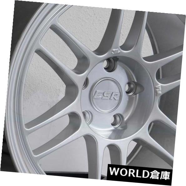 国内発送 海外輸入ホイール 17x9 Silver ESR 5x114.3 SR11 Set(4) 5x114.3 30ハイパーシルバーホイールリムセット(4) 17x9 ESR SR11 5x114.3 30 Hyper Silver Wheels Rims Set(4), リトルシンコム:74ee9528 --- ceremonialdovesoftidewater.com