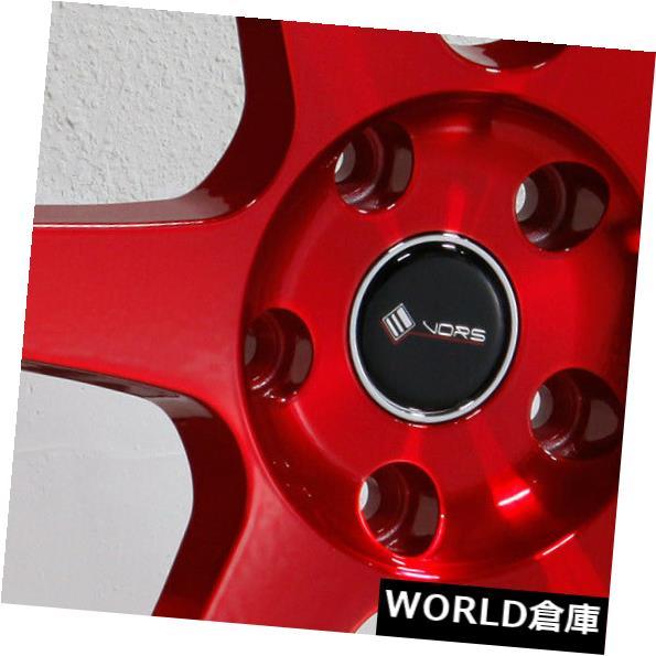 【即発送可能】 海外輸入ホイール Set(4) 18x8.5 Vors TR37 5x115 Candy 35キャンディレッドホイールリムセット(4) 18x8.5 Vors Rims TR37 5x115 35 Candy Red Wheels Rims Set(4), イプニア:0ea56a9b --- adaclinik.com