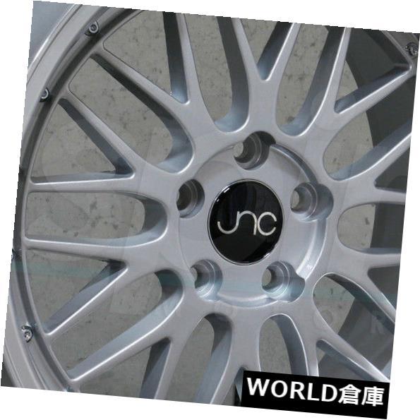 【お得】 海外輸入ホイール set(4) 25 18x10 Rims JNC 005 JNC005 5x112 25シルバーマシンリップホイールリムセット(4) 18x10 JNC 005 JNC005 5x112 25 Silver Machine Lip Wheel Rims set(4), e雑貨屋:5edc500a --- adaclinik.com