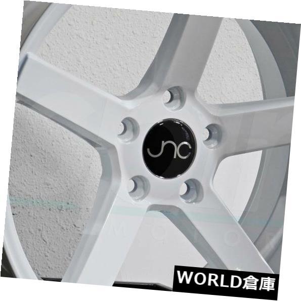 【予約販売品】 海外輸入ホイール 18x10 JNC 5x120 026 JNC026 25 5x120 25ホワイトホイールNew set(4) 18x10 New JNC 026 JNC026 5x120 25 White Wheel New set(4), 収納家具のイーユニット:1a774a56 --- ceremonialdovesoftidewater.com