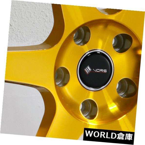 【正規品質保証】 海外輸入ホイール 18x9.5 Vors TR37 Wheels 5x115 Gold 35キャンディゴールドホイールリムセット(4) 18x9.5 Set(4) Vors TR37 5x115 35 Candy Gold Wheels Rims Set(4), シノワズリーモダン:16dfa76b --- lucyfromthesky.com