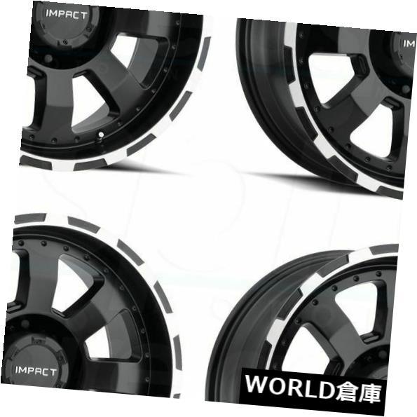 贅沢屋の 海外輸入ホイール 20x9インパクト505Bデストロイヤー8x170 18ブラックマシンエッジホイールリムセット(4) 20x9 Set(4) Impact 505B Destroyer 8x170 Black Edge 18 Black Machine Edge Wheels Rims Set(4), 自然のくらし:02b63d1d --- adaclinik.com
