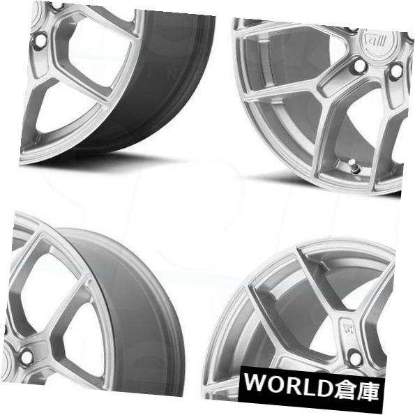 海外輸入ホイール 17x8.5 / 17x9.5 Motegi MR133 5x114.3 25/25 Hyper Silverホイールリムセット(4) 17x8.5/17x9.5 Motegi MR133 5x114.3 25/25 Hyper Silver Wheels Rims Set(4)