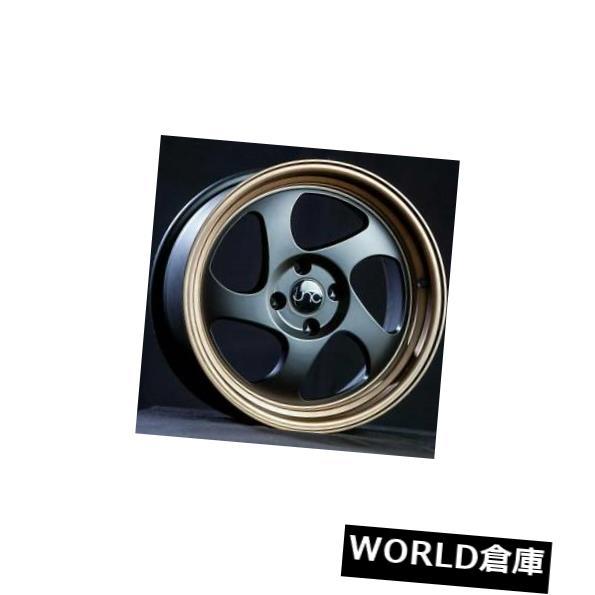 海外輸入ホイール 17x9 JNC 034 JNC034 5x112 25マットブラックブロンズリップホイールリムセット(4) 17x9 JNC 034 JNC034 5x112 25 Matte Black Bronze Lip Wheel Rims set(4)