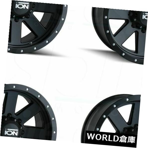 海外輸入ホイール 18x9イオン134 8x6.5 / 8x165.1 0マットブラックホイールリムセット(4) 18x9 Ion 134 8x6.5/8x165.1 0 Matte Black Wheels Rims Set(4)