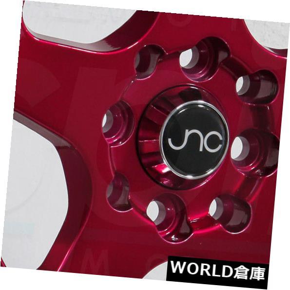 【500円引きクーポン】 海外輸入ホイール 18x9 JNC 010 18x9 JNC010 5x114.3 Rims 30キャンディレッドマシンリップホイールリムセット(4) set(4) 18x9 JNC 010 JNC010 5x114.3 30 Candy Red Machine Lip Wheel Rims set(4), レインボールーム:6502ae8f --- unifiedlegend.com