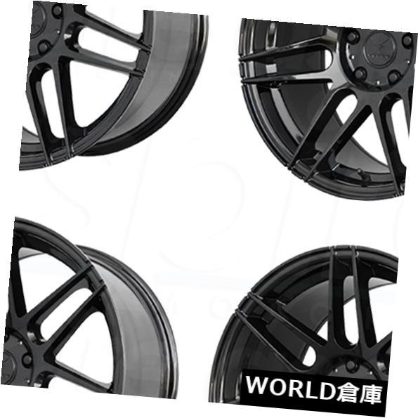 海外輸入ホイール 18x8.5 Verde V21 Reflex 5x108 38グロスブラックホイールリムセット(4) 18x8.5 Verde V21 Reflex 5x108 38 Gloss Black Wheels Rims Set(4)