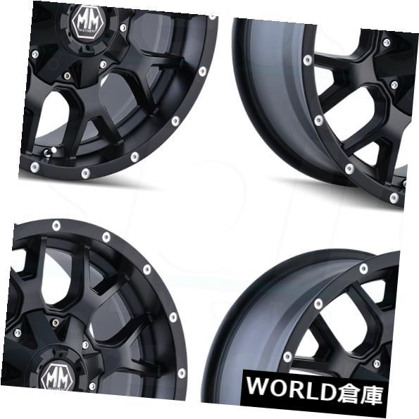 【未使用品】 海外輸入ホイール 18x9メイヘムウォリアー5x5.5 5x5.5/5x150/ Matte 5x150 Black 18マットブラックホイールリムセット(4) 18x9 Mayhem Warrior 5x5.5/5x150 18 Matte Black Wheels Rims Set(4), 若宮町:a26f6f66 --- statwagering.com