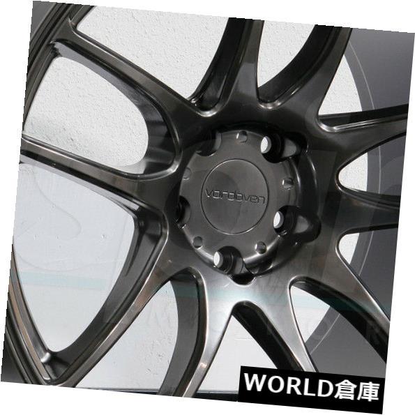 海外輸入ホイール 18x9.5 Vordoven Forme 9 5x108 35ハイパーブラックホイールリムセット(4) 18x9.5 Vordoven Forme 9 5x108 35 Hyper Black Wheels Rims Set(4)