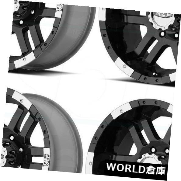 海外輸入ホイール 16x9 Moto Metal MO951 8x170 -12ブラックマシンホイールリムセット(4) 16x9 Moto Metal MO951 8x170 -12 Black Machine Wheels Rims Set(4)