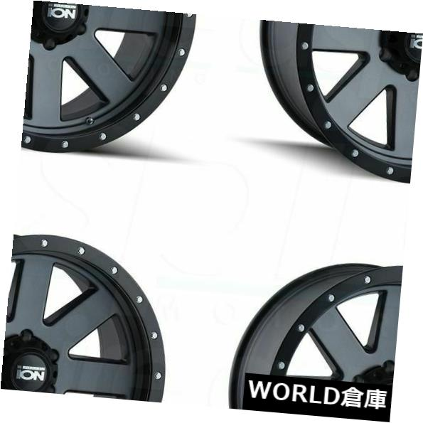 海外輸入ホイール 18x9イオン134 8x180 0マットガンメタルホイールリムセット(4) 18x9 Ion 134 8x180 0 Matte Gunmetal Wheels Rims Set(4)