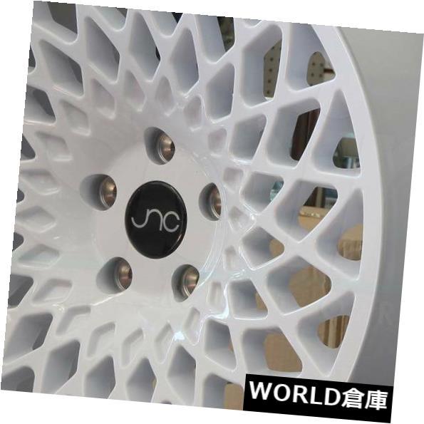 超話題新作 海外輸入ホイール 18x9.5 JNC 043 JNC043 JNC043 JNC 5x114.3 18x9.5 35ホワイトホイールリムセット(4) 18x9.5 JNC 043 JNC043 5x114.3 35 White Wheel Rims set(4), 現場リズム:d0a2996c --- learningcentre.co