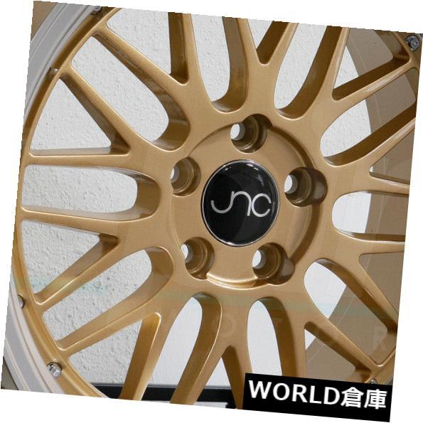人気提案 海外輸入ホイール Gold 34 18x9 JNC 005 JNC005 5x120 34ゴールドマシンリップホイールリムセット(4) 5x120 18x9 JNC 005 JNC005 5x120 34 Gold Machine Lip Wheel Rims set(4), 買取横丁:d4e252eb --- ecommercesite.xyz