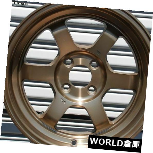 高価値 海外輸入ホイール 16x8 Rota Grid V 4x100 0フルロイヤルスポーツブロンズホイールリムセット(4) 16x8 Rota Grid V 4x100 0 Full Royal Sport Bronze Wheels Rims Set(4), すず陶 c1cdd830