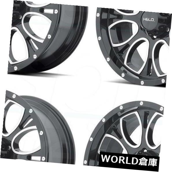 新版 海外輸入ホイール Wheels 17x9 Helo HE879 HE879 5x5.5/ Set(4) 5x139.7 18ブラックマシンミルドホイールリムセット(4) 17x9 Helo HE879 5x5.5/5x139.7 18 Black Machine Milled Wheels Rims Set(4), DRESCCO(ドレスコ):fefd551d --- fotomat24.com