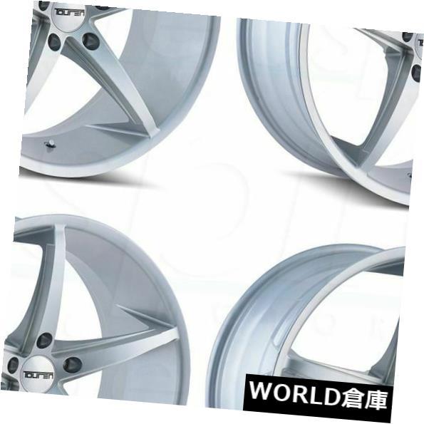 海外輸入ホイール 18x8 Touren TR70 5x120 20シルバーミルドホイールリムセット(4) 18x8 Touren TR70 5x120 20 Silver Milled Wheels Rims Set(4)