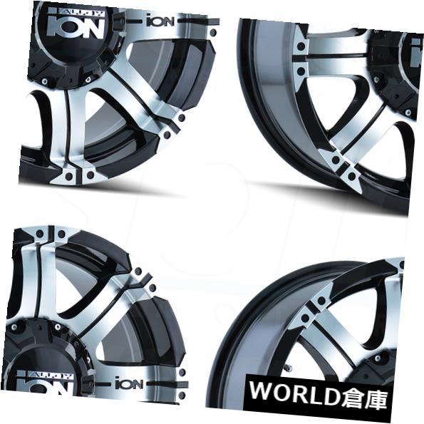 海外輸入ホイール 18x9イオン187 5x5.5 / 5x150 -12ブラックマシニングホイールリムセット(4) 18x9 Ion 187 5x5.5/5x150 -12 Black Machined Wheels Rims Set(4)