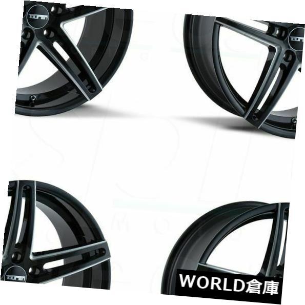 海外輸入ホイール 18x8 Touren TR73 5x120 20グロスブラックミルドホイールリムセット(4) 18x8 Touren TR73 5x120 20 Gloss Black Milled Wheels Rims Set(4)