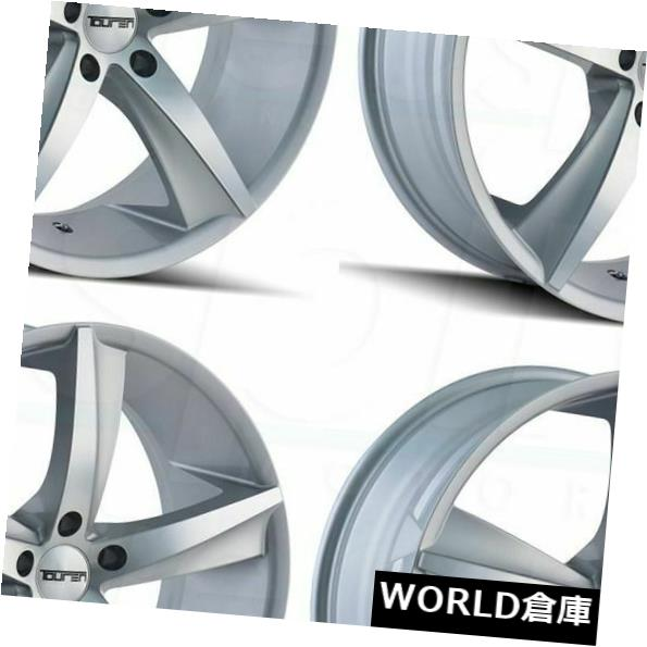 海外輸入ホイール 18x8 Touren TR72 5x120 35グロスシルバー加工ホイールリムセット(4) 18x8 Touren TR72 5x120 35 Gloss Silver Machined Wheels Rims Set(4)
