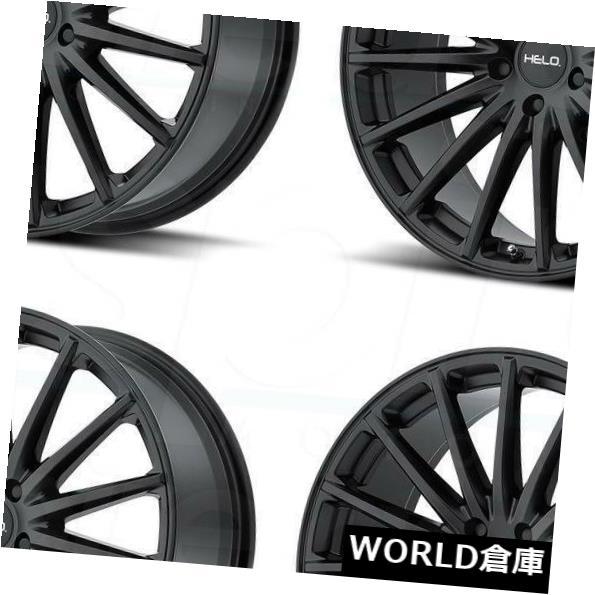 海外輸入ホイール 18x8 Helo HE894 5x114.3 / 5x4.5 38サテンブラックホイールリムセット(4) 18x8 Helo HE894 5x114.3/5x4.5 38 Satin Black Wheels Rims Set(4)