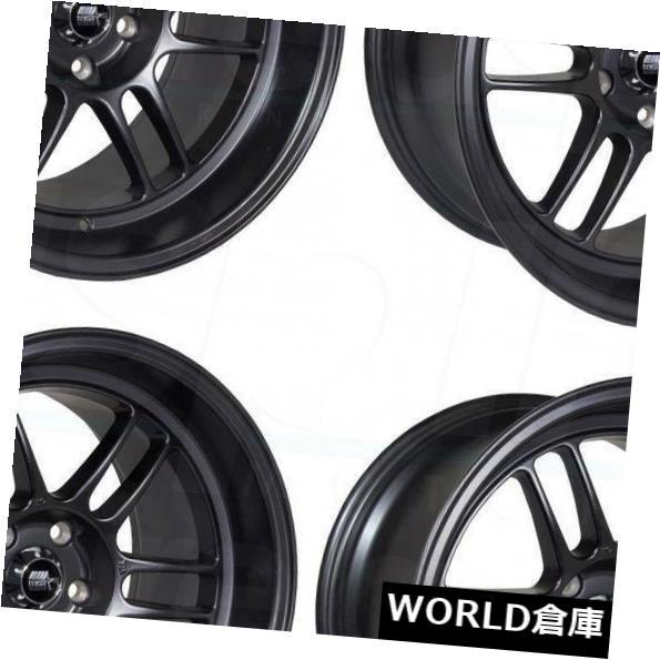 海外輸入ホイール 18x9.5 MST鈴鹿5x114.3 12マットブラックホイールリムセット(4) 18x9.5 MST Suzuka 5x114.3 12 Matte Black Wheels Rims Set(4)