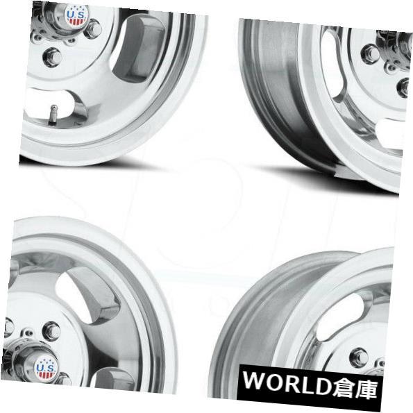 海外輸入ホイール 15x8 / 15x9 US Mags Indy U101 5x114.3 -12 / -12ポリッシュドホイールリムセット(4) 15x8/15x9 US Mags Indy U101 5x114.3 -12/-12 Polished Wheels Rims Set(4)