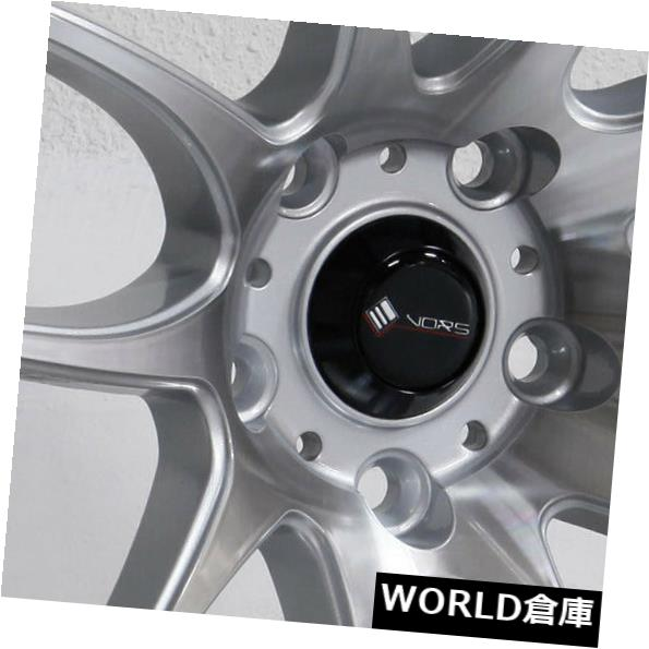 海外輸入ホイール 18x8.5 / 18x9.5 Vors TR4 5x110 35/35シルバー加工ホイールリムセット(4) 18x8.5/18x9.5 Vors TR4 5x110 35/35 Silver Machined Wheels Rims Set(4)