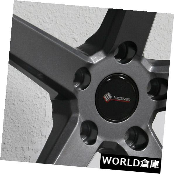海外輸入ホイール 18x8.5 / 18x9.5 Vors TR5 5x115 35/35ガンメタルホイールリムセット(4) 18x8.5/18x9.5 Vors TR5 5x115 35/35 Gun Metal Wheels Rims Set(4)