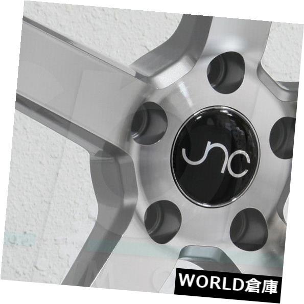 玄関先迄納品 海外輸入ホイール 18x8 JNC 026 JNC026 5x100 35シルバーマシンフェイスホイールリムセット(4) 18x8 JNC 026 JNC026 5x100 35 Silver Machine Face Wheel Rims set(4), Timeless 1e78c75c