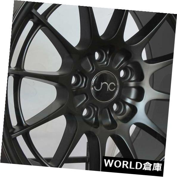 新品?正規品  海外輸入ホイール 18x8.5 JNC 033 JNC033 5x100 35マットブラックホイールNew set(4) 18x8.5 JNC 033 JNC033 5x100 35 Matte Black Wheel New set(4), シェシェア【xiexiea】 de2d88ee