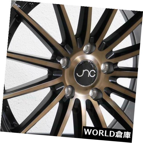 海外輸入ホイール 18x8.5 JNC 042 JNC042 5x120 35マットブラックブロンズフェイスホイールNew set(4) 18x8.5 JNC 042 JNC042 5x120 35 Matte Black Bronze Face Wheel New set(4)