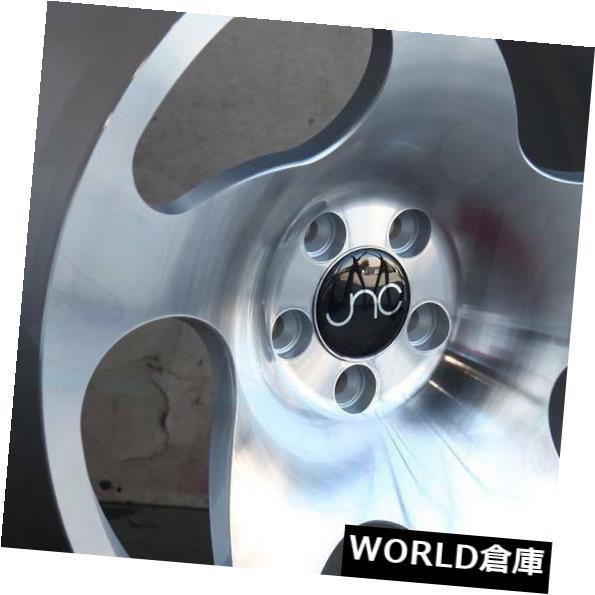 海外輸入ホイール 18x8.5 JNC 036 JNC036 5x112 35シルバーマシンフェイスホイールリムセット(4) 18x8.5 JNC 036 JNC036 5x112 35 Silver Machine Face Wheel Rims set(4)
