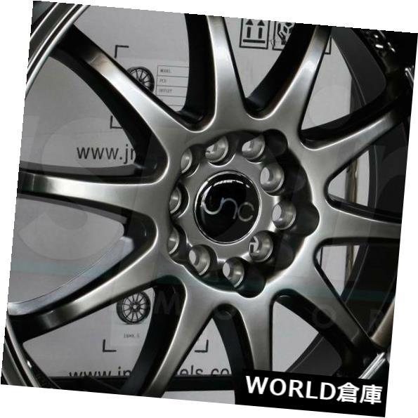 海外輸入ホイール 18x8 JNC 019 JNC019 5x100 / 5x114.3 27 Hyper Black Wheel新しいセット(4) 18x8 JNC 019 JNC019 5x100/5x114.3 27 Hyper Black Wheel New set(4)